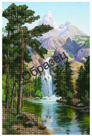 Схема для вышивания бисером Водопад Н-230, фото 2