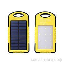 Водонепроницаемый Power Bank 10800 мА  Солнечная батарея и Лампа 12 LED