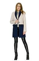 Женское кашемировое пальто с контрастным переходом цвета