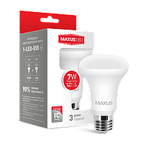 LED лампа MAXUS R63 7W мягкий свет 220V E27 (1-LED-555) (NEW)