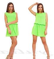 Женское короткое платье летнее