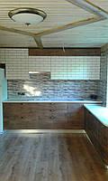 Кухня МДФ пленочная в частный дом, радиусная, фото 1