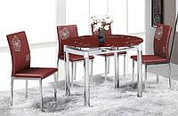 Стол обеденный Сандра стеклянная столешница