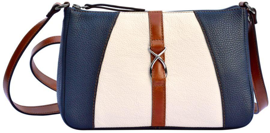 5723a89e6da0 Кожаная женская сумка Issa Hara АНИТА 13-17-04 разноцветная - SUPERSUMKA  интернет магазин