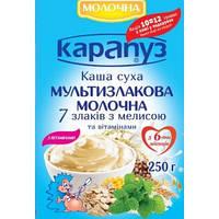 Молочная каша Карапуз 7 злаков с витаминами и мелиссой, 250 г (мягкая упаковка)