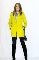 Яркое женское кашемировое пальто
