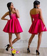 Платье коктейльное со стразами