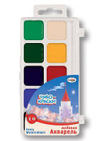 Краски акварельные Гамма Чудо-Краски 10 цветов в пластиковой упаковке (212073)