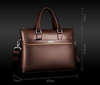 Мужской кожаная сумка.. Модель 04277, фото 3