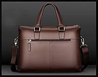 Мужской кожаная сумка.. Модель 04277, фото 5