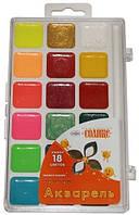 Краски акварельные Гамма Оранжевое солнце 18 цветов в пластиковой упаковке (212083)
