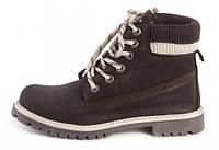 Женские ботинки Palet коричневые с белым