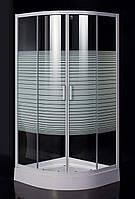 Душевая кабина Eger TISZA(AMUR) (90*90*200 см) на мелком поддоне 15 см белый/матовое