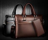 Мужской кожаная сумка.. Модель 04277, фото 2