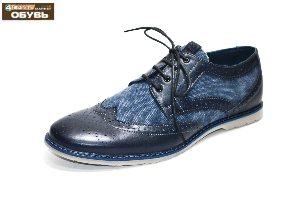 Мужские туфли (арт.68 джинс)