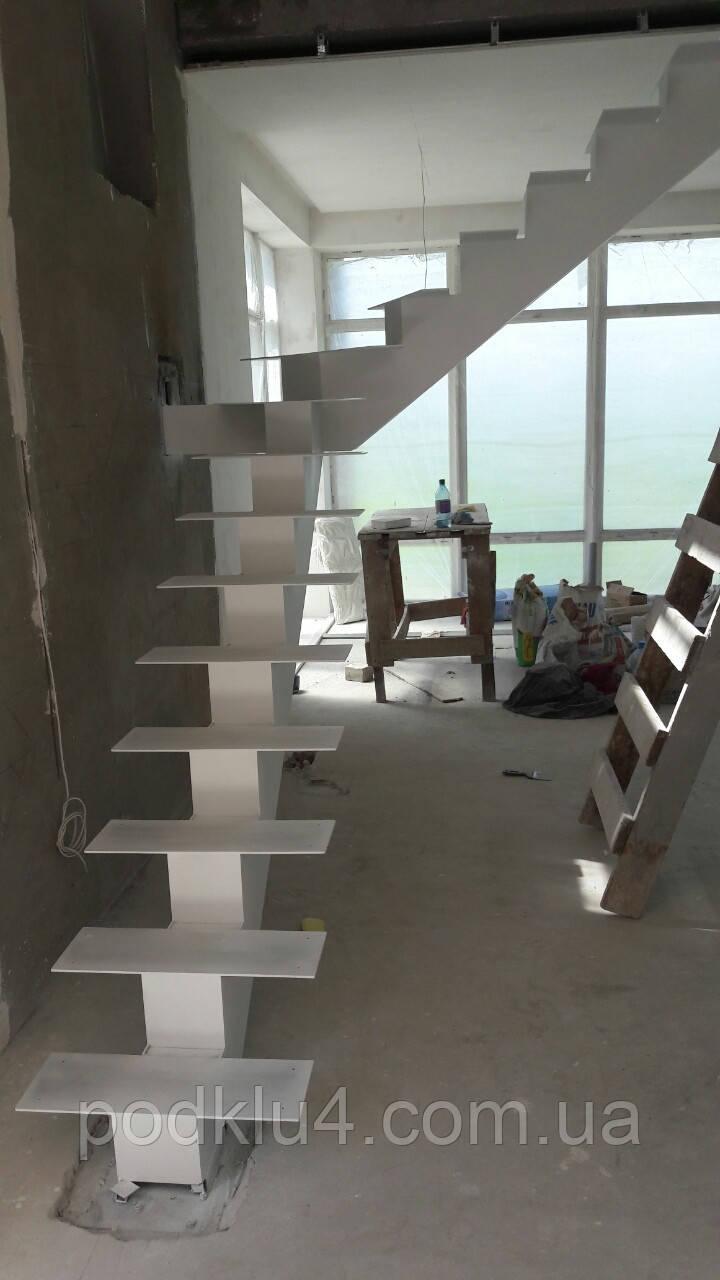 Лестницы на прямом косоуре любых размеров