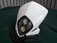 Передний универсальный белый  обтекатель с фарой Acserbis
