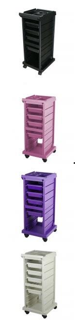 Тележка парикмахерская T-100X фиолетовая
