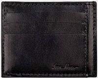 Мужской кожаный кардхолдер на 8 слотов ISSA HARA CH1 (01-00), черный