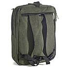 Сумка-рюкзак Fashion трансформер 14 л зеленый 50164, фото 5