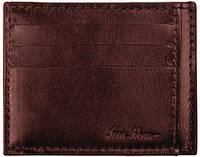 Мужской кожаный кардхолдер на 8 слотов ISSA HARA CH1 (02-00), коричневый