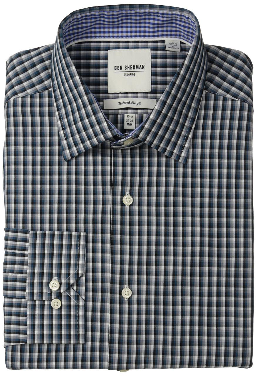 Рубашка Ben Sherman Slim Fit, N16 S34/35, Teal, 33502616-390