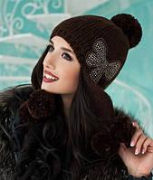 Зимняя женская шапка-ушанка «Аляска»