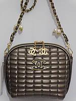 Клатч дутый Шанель бронза, фото 1