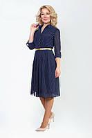 Легкое женское платье из шифона на трикотажной подкладке