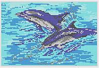 Схема для вышивания бисером Дельфины
