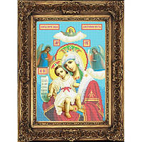 """Схема иконы для вышивки бисером на габардине """"Образ Пресвятой Богородицы Достойно Есть"""" (Арт. ИБ4-99)"""