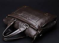 Мужская кожаная сумка. Модель 0427., фото 3