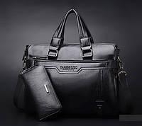 Мужская кожаная сумка. Модель 0427., фото 5