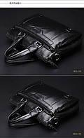 Мужская кожаная сумка. Модель 0427., фото 8
