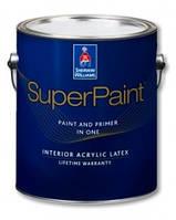 Краска Sherwin-Williams  SuperPaint  (шервин вильямс супер пейнт)- 3,63л, для стен и потолков матовая