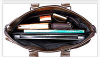 Мужская кожаная сумка. Модель 0427., фото 9