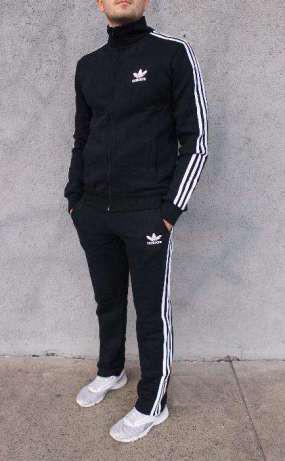 d6b549be579e Мужской спортивный костюм Adidas. Молодежный Адидас черный с прмыми брюками