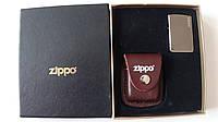 Комплект ZIPPO (зажигалка ZIPPO + чехол)