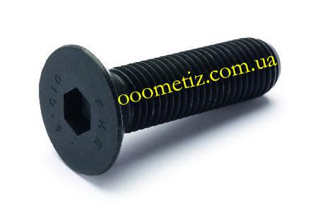 Гвинт М14х40 10.9 сталевий без покриття DIN 7991 з потайною головкою і внутрішнім шестигранником