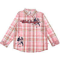 Рубашка в клетку для девочки