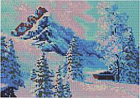 Схема для вышивания бисером В горах О-189