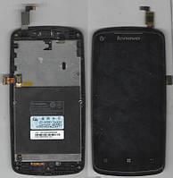 Дисплей Lenovo A630t с передней панелью +тачскрин б,у (СЛЕДЫ ПОЛЬЗЫВАНИЯ)