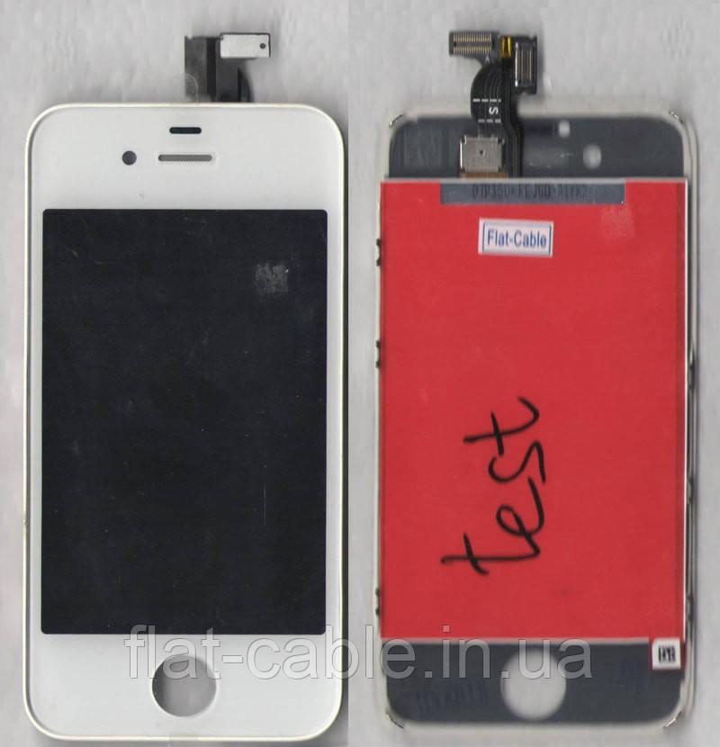Дисплей (модуль) iPhone 4S с cенсором белый АА