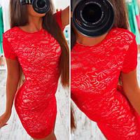 Женское красивое кружевное платье (2 цвета)
