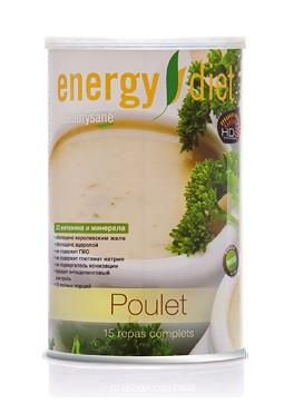 Коктейль протеиновый Energy Diet HD Суп Курица, сбалансированное питание для похудения 450 г (Франция)