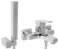 Смеситель для ванны с душевым шлангом и лейкой Invena Marmo Exe BW-72-001