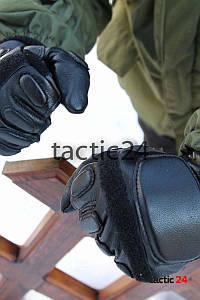 Зимние тактические перчатки полнопалые Чёрные