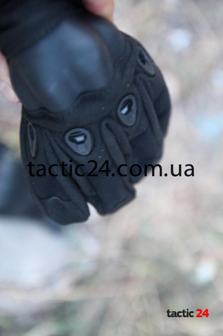 Тактические перчатки полнопалые Oakley чёрные Lux