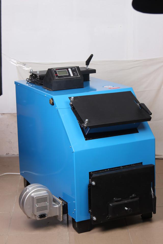 твердотопливный котел длительного горения Огонек КОТВ-16ДГ (фото, вид общий)