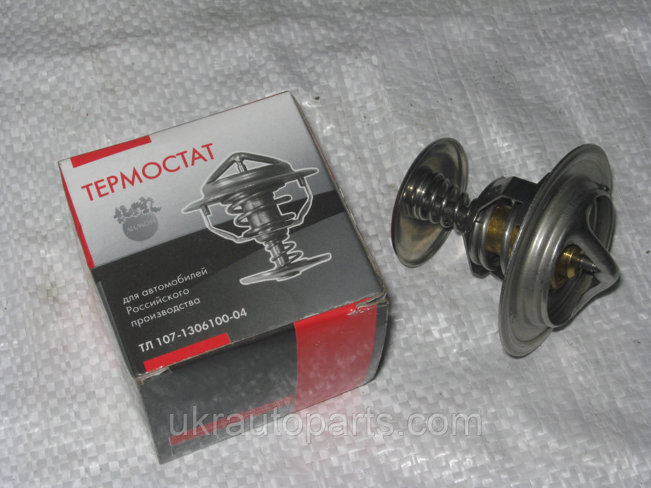 Термостат ГАЗ 33104 ВАЛДАЙ 3309 КАМАЗ МАЗ МТЗ ПАЗ (ТС107-04) (87С) (ТС107-1306100-04)